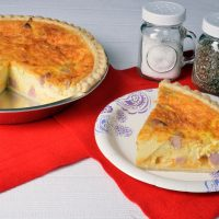 ham and cheddar quiche